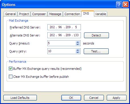 mx dns windows: